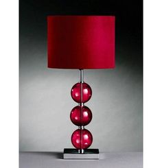 red lamp for our new bedroom!!! Will go great w/ our black & white!