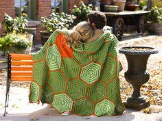 I love the pop of orange in this crochet afghan. Painted Turtle Afghan - Media - Crochet Me