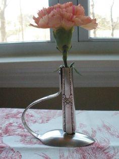 Bud Vase - Repurposed from Vintage Silverware