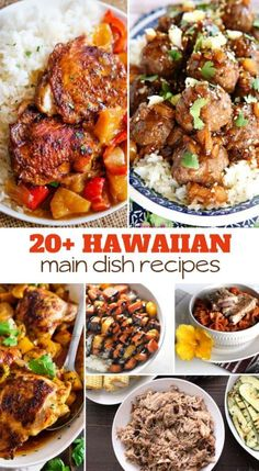 May 2018 - Want to have a luau-inspired dinner, missing your Hawaii vacation, just love the flavors of the Islands? Try one of these Hawaiian main dish recipes! I am curated over 20 Hawaiian main dish recipes to try tonight! Hawaiian Dishes, Hawaiian Recipes, Hawaii Food Recipes, Hawaiian Theme Food, Hawaiian Parties, Schnitzel Pizza, Food Dishes, Main Dishes, Beef Dishes