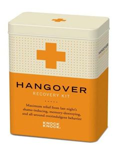 The Hangover Recovery Kit is necessary to any college student's dorm room, and makes the perfect graduation gift for graduating seniors! $11.20