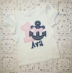 Boys or Girls Anchor Nautical Birthday Applique von bebeboutiques, $24.99