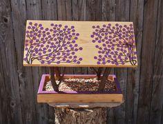 Persnickety Bird Feeder - Covered Bridge Style Open Air Bird Feeder - Twigs & Purple Winter Berries, Reclaimed Wood and Branches Bird Feeder
