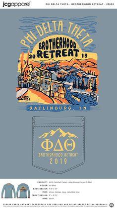 Phi Delta Theta Brotherhood Retreat Shirt | Fraternity Brotherhood Retreat | Greek Brotherhood Retreat #phideltatheta #phidelt #brotherhood #retreat #hand #drawn #design #mountains
