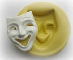 Mardi Gra Mask Small Mold Clay Resin Fondant Silicone Mould