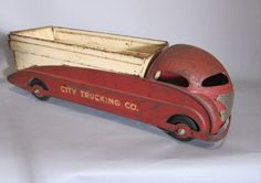 Another Vintage and Very Rare Pressed Steel, Steelcraft  Art Deco Dump Truck