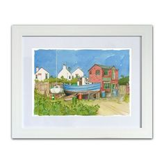 All Products • gorgeous gifts from the Seaside Emporium Fishing Boats, Watercolour Painting, Summer Days, Seaside, Original Paintings, Coast, Scene, Drawings, Prints