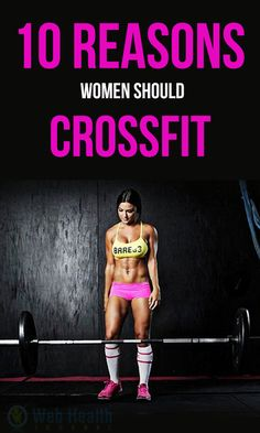 10 Reasons Women Should Cross Fit. Cross Fit is concentrated; it is not easy but full of fun. There are 10 reasons women should #Cross_Fit is not just for meat heads and body builders. #fitness #cardio