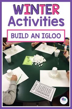 Build an igloo with marshmallows in this fun stem activity for kids! Great winter activity for kindergarten and first grade! Build an igloo with marshmallows in this fun stem activity for kids! Great winter activity for kindergarten and first grade! School Age Activities, Winter Activities For Kids, Preschool Activities, Work Activities, Igloo Building, Kindergarten Stem, Stem For Kids, Marshmallows, Elementary Math