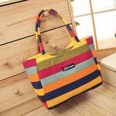Waterproof Canvas Casual Zipper Shopping Bag Large Tote Women Handbags Foldable Floral Printed Ladies Single Shoulder Beach Bags