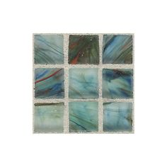 American Olean 13-in x 13-in Visionaire Peaceful Sea Glass Mosaic Square Wall Tile (Actuals 13-in x 13-in)