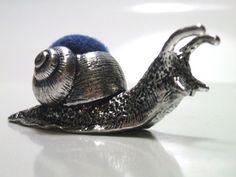Pewter Snail Pincushion