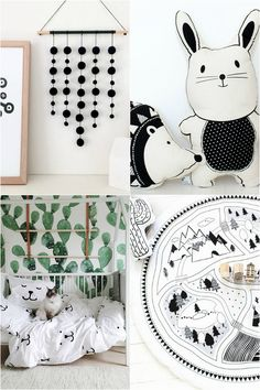 Inspiration for a bright black & white monochrome kids room little boy's room / baby boy nursery