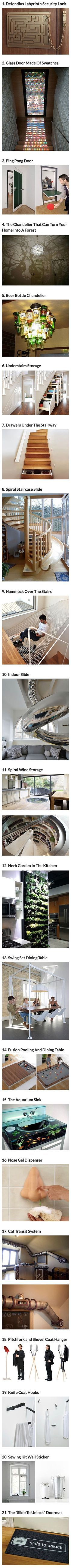 Some of these ideas would be AMAZING fun depending on my future home style. Especially the shovel and pitchfork!! Check out my other pins and consider following me if you like what you see.