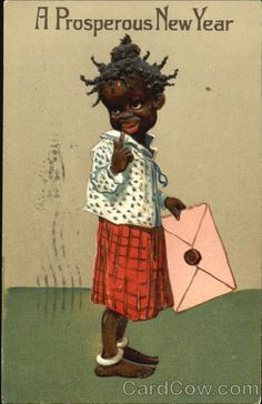 New Years postcard. c1908.
