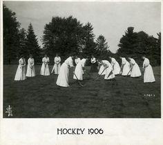 A Women's Field Hockey Team, 1906. #vintage #Edwarian #sports #field_hockey