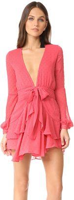 Shop Now - >  https://api.shopstyle.com/action/apiVisitRetailer?id=638387076&pid=uid6996-25233114-59 For Love & Lemons Tarta Long Sleeve Mini Dress  ...