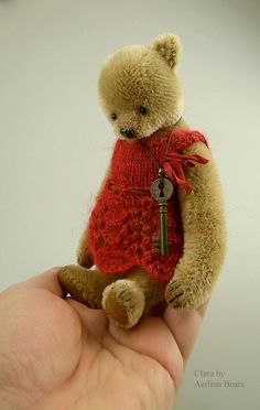 Clara, One Of a Kind Mohair Artist Teddy Bear from Aerlinn Bears