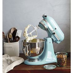KitchenAid® Artisan Aqua Sky Stand Mixer I Crate And Barrel, My Dream Mixer