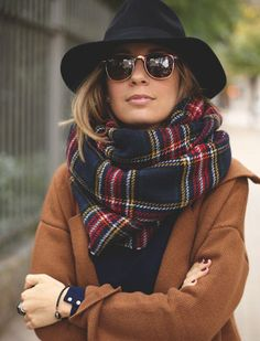 The Only Scarves Stylish Women Wear via @PureWow