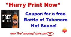Hurry ~ Free Tabanero Hot Sauce Coupon ~ Print Now while available. Nothing beats the low low price of free to try out a new product **  Click the link below to get all of the details ► http://www.thecouponingcouple.com/hurry-free-tabanero-hot-sauce-coupon-print-now/ #Coupons #Couponing #CouponCommunity  Visit us at http://www.thecouponingcouple.com for more great posts!