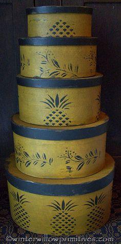 Primitive Pineapple Set of 5