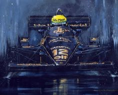 Image Size: X Overall Size: X What a stunning giclee by Nicholas Watts of the late great 3 time World Champion Ayrton Senna piloting the Ayrton Senna Helmet, Helmet Drawing, San Marino Grand Prix, Aryton Senna, Speed Art, Garage Art, Car Posters, Car Drawings, Car Sketch