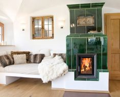 Wood Tile Base furnace, basic furnaces from Brunner Living Room With Fireplace, Lounge Areas, Cozy House, Home And Living, Design Case, Sweet Home, Room Decor, House Design, Interior Design