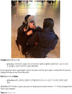 Hongbin continues on his tradition for Ravi's birthday of posting this picture of Ravi crying after seeing his sister^.^