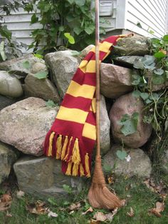 Gryffindor House Scarf Hand-Knit 100% Wool by Somewhen on Etsy