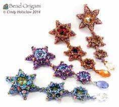 O Stars Pendants - Cindy Holsclaw - Bead Origami