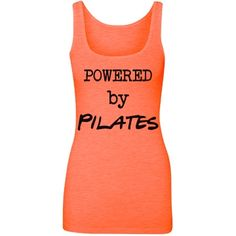 Powered by Pilates | Functional fitness and strength! Pilates is what gives you power. Pilates with ball logo on back. This shirt is longer, to stay put during all the rolling. Look for more in this Collection. Samira