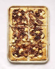 Goat's Cheese and Caramalised Onion Tart - Nadiya Hussain Cheese Tarts, Goat Cheese, Delicious Breakfast Recipes, Yummy Food, Yummy Recipes, Tart Recipes, Baking Recipes, Nadiya Hussain Recipes, Sweets