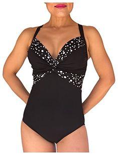 f8ec633022 Carol Wior Patented Slimsuit Carol Wior Slimsuit 6-1527N Champagne Bubbles  twist front swimsuit