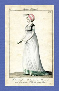 1797.  What a lovely headwear!