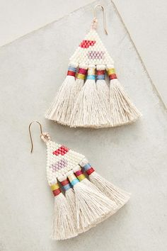 Tali Tassel Earrings - Anthropologie $78