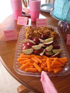 Pony snacks carrots and apples