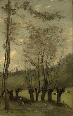 Prairie avec des saules - Jean-Baptiste-Camille Corot - Montlhéry (1860) - Wikimedia Commons
