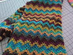 Vintage crochet ripple wip
