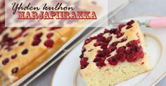 Yhden kulhon marjapiirakka (pellillinen) / One bowl berry bars Sweet Pie, No Bake Cake, Vanilla Cake, Sweet Recipes, Cheesecake, Deserts, Yummy Food, Delicious Recipes, Food And Drink