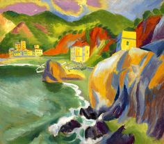 Max Pechstein (German, 1881-1955) 'Monterosso al mare'