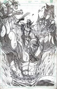 #Hulk #Fan #Art. (Hulk vs Wolverine) By: Jey2dworld. ÅWESOMENESS!!!™ ÅÅÅ+