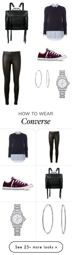 """Transitional Casual"" by lyman14 on Polyvore featuring Dorothy Perkins, AG Adriano Goldschmied, Converse, McQ by Alexander McQueen, TAG Heuer and Bling Jewelry"