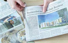 DIY Körbchen aus Zeitungspapier basteln | A PARTY Magazin Diy Papier, Paper Crafts, Diy Crafts, Craft Work, Basket Weaving, Projects To Try, Make It Yourself, How To Make, Home Decor
