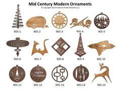 mid century modern ornaments frederick arndt - Google Search