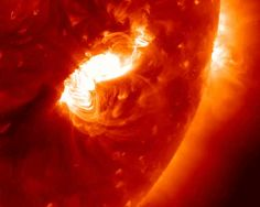 2017 - active sunspot region AR 2673 produced a massive solar flare. The eruptive event also unleashed a CME partially directed toward Earth. The image sequence above shows the. Carina Nebula, Orion Nebula, Helix Nebula, Andromeda Galaxy, Space Planets, Space And Astronomy, Discord Game, Nasa, Galaxy Photos