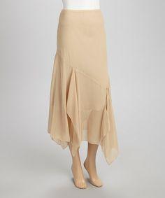 Look what I found on #zulily! Sand Chiffon Maxi Skirt by Quiz #zulilyfinds