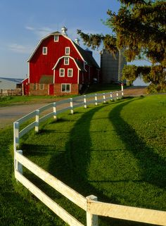 Country Comfort by Bob Firth on Capture Minnesota // A red barn, green grass, a white fence, sunshine and blue sky. All the ingredients for a picture perfect recipe of a Kodak moment. Glad I had my Brownie camera.