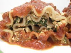 Vegan Lasagna Rolls (via Happy Herbivore)