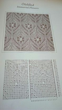 Haapsalu shawl pattern - but would make a wonderful window curtain!Maybe instead of the flowers I could put mouse ears.This Pin was discovered by Све Lace Knitting Stitches, Lace Knitting Patterns, Shawl Patterns, Knitting Charts, Lace Patterns, Stitch Patterns, Baby Knitting, Tricot D'art, Knit Crochet